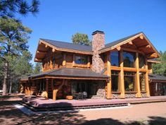 Résultat d'images pour heim log homes Log Cabin Living, Log Cabin Homes, Log Cabins, Timber Frame Homes, Timber House, Log Home Floor Plans, House Plans, Share Pictures, Sweet Home