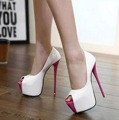 Fashion Sexy Womens Super High Stilettos Heel Open Toe Platform Party Shoes HOT