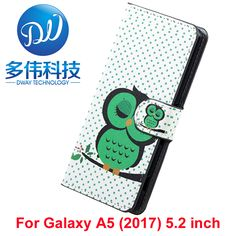 Flip Wallet PU Flower Leather Cover Case For Samsung Galaxy A5 (2017) Fundas Coque Holder With Stand For Galaxy A5 2017 Case