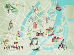 Nik Neves - Copenhagen map