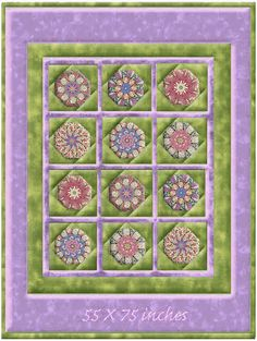 Spring Spectacular Window Pane Lap Size Kaleidoscope Quilt Kit