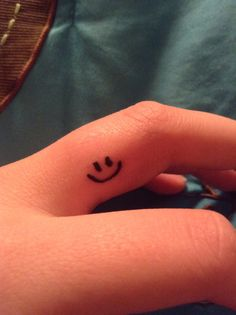 My new smiley face tattoo.