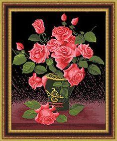 ENCANTOS EM PONTO CRUZ: Flores Maravilhosas em Ponto Cruz