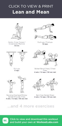 Lean and Mean · WorkoutLabs Fit Gym Workouts For Men, Workout Plan For Women, Workout Tips, Mens Fitness, Yoga Fitness, Fitness Tips, Fitness Workouts, Weight Loss For Women, Weight Loss Tips