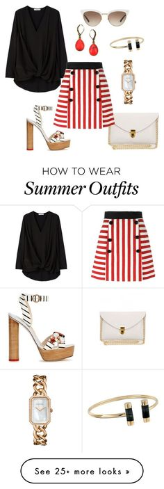 "Collection Of Summer Styles    ""summer outfit"" by juliabartyzel on Polyvore featuring MANGO, Dolce&Gabbana, Sophia Webster, Gucci, Vintage America, Michael Kors and Chanel    - #Outfits  https://fashioninspire.net/fashion/outfits/summer-outfits-summer-outfit-by-juliabartyzel-on-polyvore-featuring-mango-dolcegabbana-sop/"