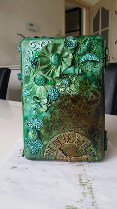 Mixed Media Steampunk Tea Box.  I found on Marta Lapkowska (Maremi's Small Art) - Inspirational Mixed Media on PINTREST Board.