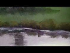 How To Paint A Country Side, Farm Land - Free Acrylic Painting Lessons Acrylic Painting Techniques, Painting Videos, Art Techniques, Diy Painting, Farm Paintings, Bob Ross Paintings, Speed Art, Water Reflections, Learn Art