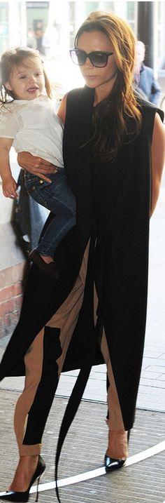 Victoria Beckham: Jacket – Victoria Beckham Collection Pants – Chloe