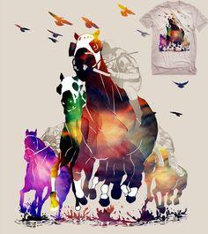 Estampa 'galope em cores' no Camiseteria.com. Autoria de rodisley jose da silva http://cami.st/d/53887