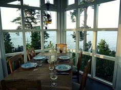 a dining view