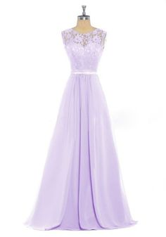 HHBY Women's Lace Tank Bridesmaid Dresses For Wedding Party Formal Gown Lilac Size US 10