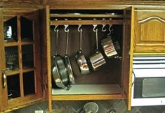 creative ideas organize pots pans storage organizing and in kitchen cabinets