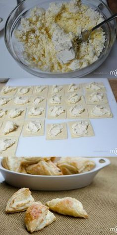 Light airy and flaky Puff Pastry Cheese Turnovers - add in sweet and savory ingredients @LavieAnnRose