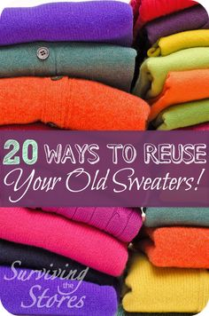 These are so awesome! There are tons of ways to reuse your old sweaters! : These are so awesome! There are tons of ways to reuse your old sweaters! Fabric Crafts, Sewing Crafts, Sewing Projects, Diy Crafts, Alter Pullover, Do It Yourself Fashion, Recycled Sweaters, Diy Clothing, Recycled Clothing