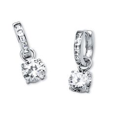 Featuring 4 2/5 carats of cubic zirconia stones, let these beautiful earrings adorn you and complement your fashion sensibilities. These earrings come complete with clip-in clasps.
