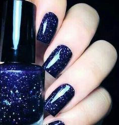 Image via We Heart It https://weheartit.com/entry/173209387 #accessories #blue #bright #dark #darkblue #fingers #girl #girly #glowing #makeup #nail #polish