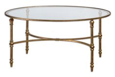 Benedict Round Coffee Table, Gold