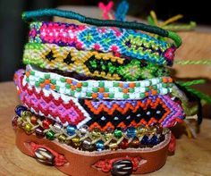 Colourful friendship bracelets