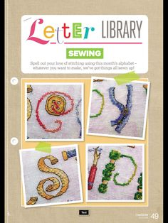 Sewing Letter Library CrossStitcher Issue 307 July 2016 Zinio Saved
