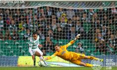 Celtic 1-0 Inverness Caledonian Thistle, 1st November. Lukasz Zaluska makes a fingertip save towards the end of the match to keep Celtic in front.