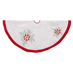 Kurt Adler Ivory Poinsettia Tree Skirt Final Call For This Special Discount