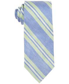 Lauren Ralph Lauren Linen-Silk Small Stripe Tie