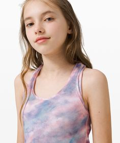 Time for school? Stay cool in this racerback tank. When it's time for practice, throw it on and keep going. This comfortable tank is always ready to move. Girls Sports Clothes, Pink And Blue Dress, Ciara Bravo, Young Girl Fashion, Tank Girl, Daddys Girl, Young Models, Tween Girls, Age