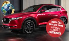 Leserwahl: Jetzt an der Design Trophy 2017 teilnehmen und einen Mazda CX-5 mit 175-PS-Vierzylinder-Turbodiesel im Wert von 44.000 Euro gewinnen.
