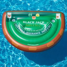 Bring a staggering and confounding appearance in your swimming pools when you use this amazing Swimline Blackjack Table with Waterproof Cards Pool Toy. Swimming Pool Toys, Pool Rafts, Giant Inflatable, Sun And Water, Pool Floats, Pvc Vinyl, Table Cards, Rafting, Summer Fun