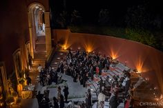 Krystal descending the stairs at El Teatro at The Rosewood. Photo by Ben Chrisman. Shared with @pixrit #chrismanstudios #sanmiguelwedding #rosewoodsanmiguelwedding #mexicowedding #processional