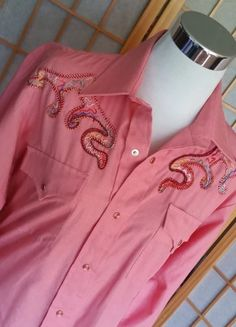 Vintage Champion Westerns LS Embellished Shirt Pearl Snaps Rockabilly  Medium GUC aefb169dc