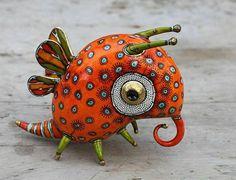 Butterfly - porcelain sculpture - by Ukrainian artists Anya Stasenko and Slava Leontyev