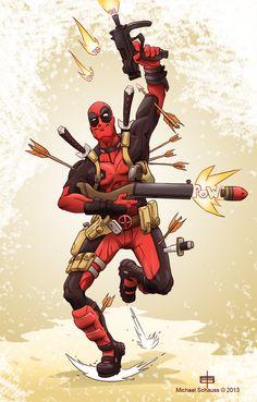 #Deadpool #Fan #Art. (Deadpool Ever!) By: MichaelSchauss.