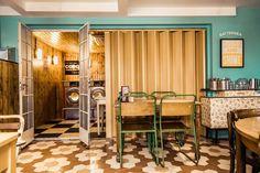 The Secret Seventies Bar Hidden inside a Retro Laundromat Café