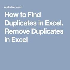 How to find duplicates in Excel using Conditional formatting and MS Query. Counting Duplicates in Excel, Removing duplicates in Excel. Microsoft Excel, Microsoft Office, Excel Tips, Excel Hacks, Excel Budget, Budget Spreadsheet, Computer Help, Computer Programming, Computer Tips