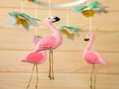 Baby Mobile Flamingo Kindergarten Mobile Baby Girl Krippe