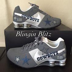 Womens Glitter Dallas Cowboys Nike Shox by BlinginBlitz on Etsy