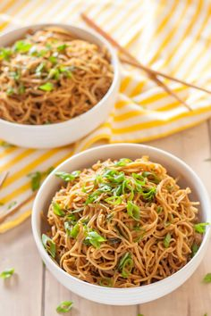 Gluten Free Sticky Garlic Noodles have a garlic sauce that'll make you swoon. Add extra to your bowl!