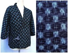 Ikat Silk Haori Jacket. Japanese Vintage Coat. by FurugiStar