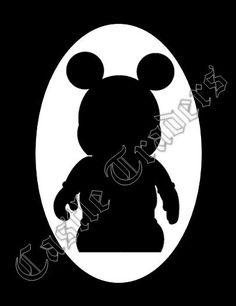 18x24 Vinylmation Silhouette Disney Pin Board --- Displays 200-250 pins --- to order visit: https://www.facebook.com/mycastletraders