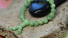 Natural Light Green Jade Stone Mala Bracelet 8mm Beads | shangrilacraft - Jewelry on ArtFire