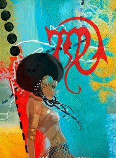 Artist: Corporate Art Task Force,  Title: Virgo,   Available: Original / Giclee Prints on Canvas