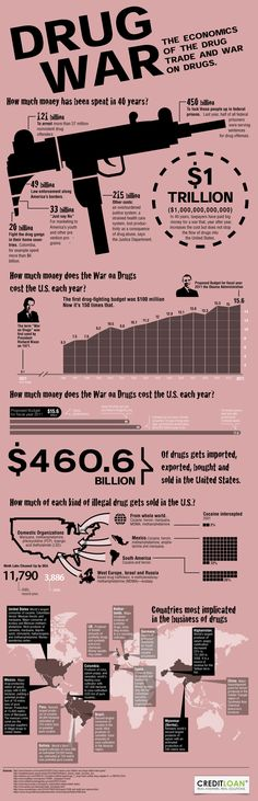 The war on drugs has been raging in the United States since the 1960s and its not stopping any time soon. Between anti-drug campaigns, drug raids and and government crack-downs, United States tax payers have spent more than one trillion dollars to decrease drug presence in America.