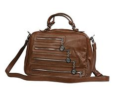 Christian Audigier Womens Cameron Satchel Handbag 3UV163BO  List Price: $150.00 Buy Now: $29.99