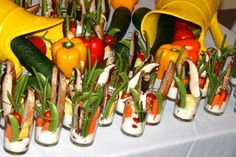 Vegetarian shooter appetizers