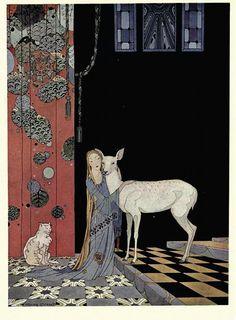 Virginia Frances Sterrett, storybook illustrator at 19 years old, circa 1920's.
