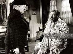 Cinema, 1962, British film actors Margaret Rutherford and James Robertson Justice in a still from the film -Murder She Said'