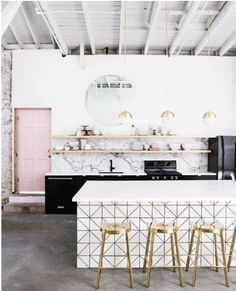 Chic and modern kitchen