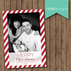 Christmas Card, Photo Christmas Card, Merry Christmas, Happy Holidays, Holiday Card, DIY Printable Christmas Card