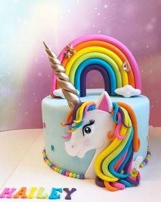 Unicorn Cake Design, Easy Unicorn Cake, Unicorn Rainbow Cake, 4th Birthday Cakes, Rainbow Birthday Party, Unicorn Birthday Cakes, Cupcake Cakes, Pirate Ship Cakes, Birthday Cakes